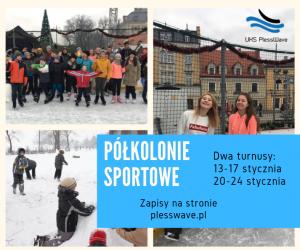 Rozpoczynamy zapisy na Sportowe Półkolonie Zimowe!